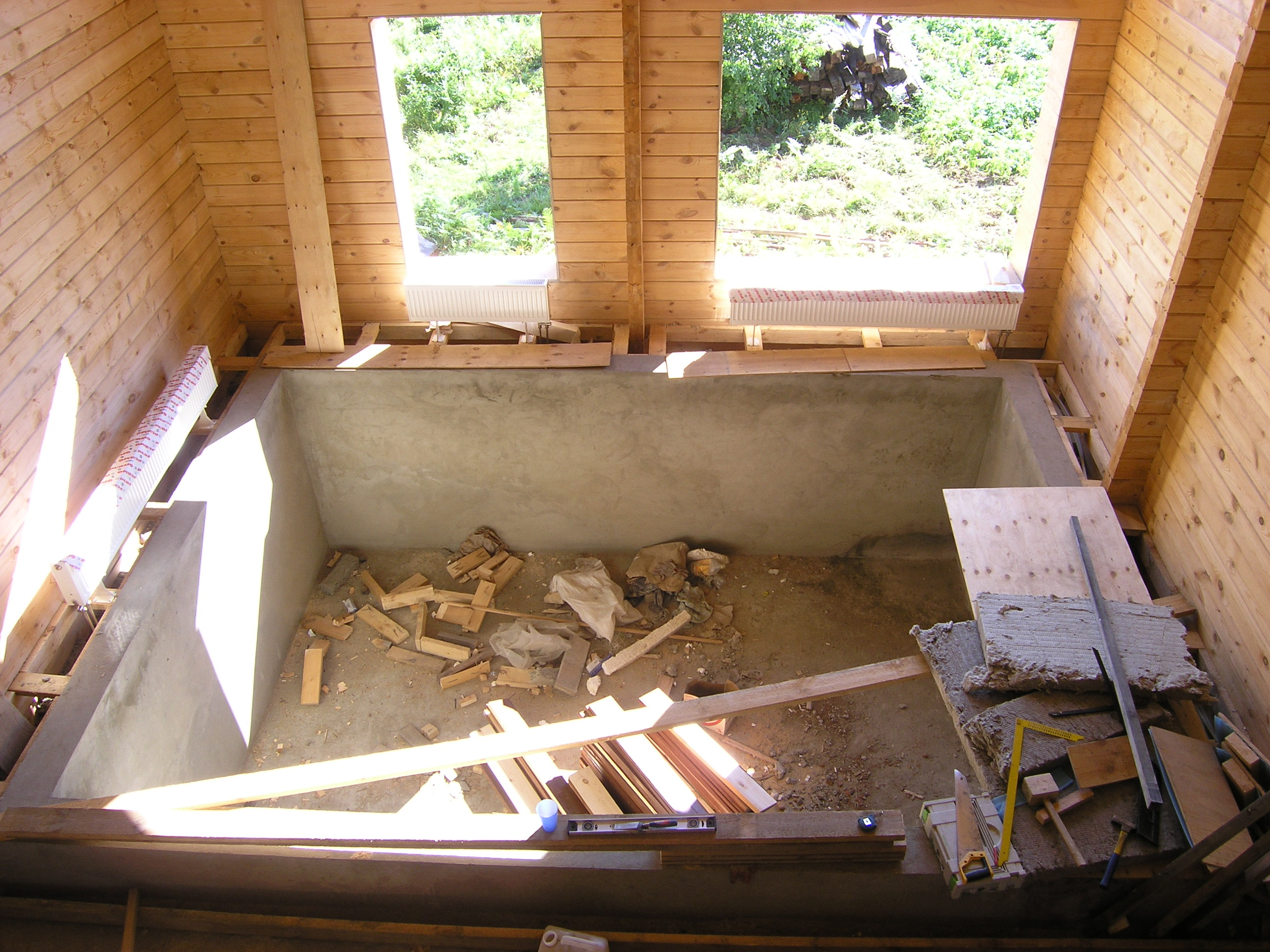 как сделать бетонный бассейн в Харькове