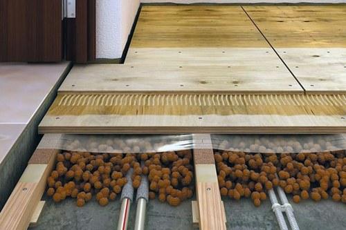 Тепла підлога з керамзиту